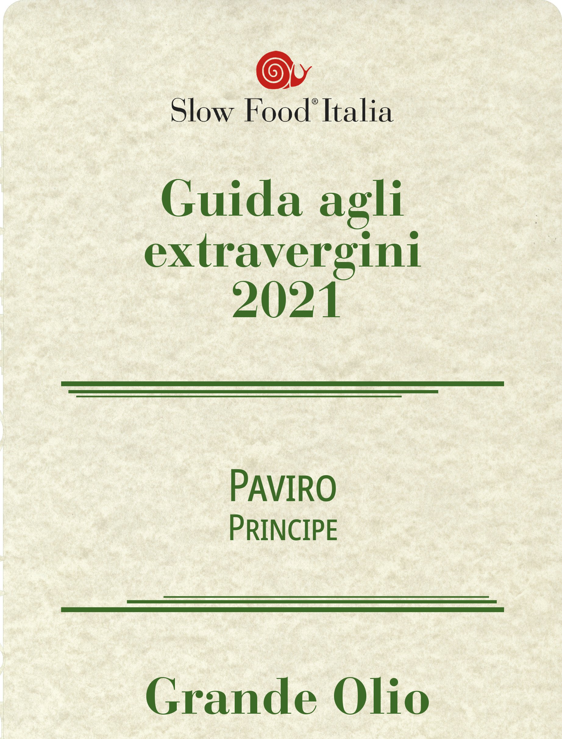 slow food grandi oli